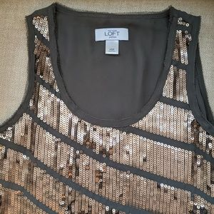Ann Taylor Loft Sequin Top